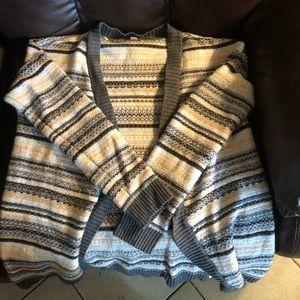 Knit striped cardigan